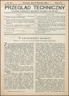 Przegląd Techniczny 1927 nr 38