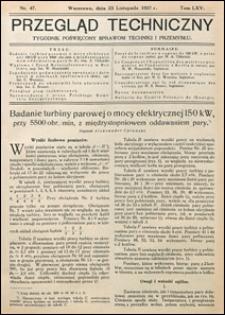 Przegląd Techniczny 1927 nr 47