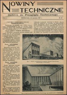 Nowiny Techniczne. Dodatek do Przeglądu Technicznego 1927 nr 25