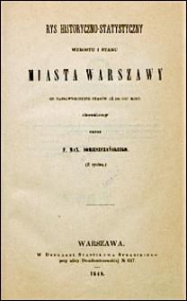 Rys historyi i statystyki miasta Warszawy