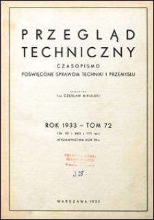Przegląd Techniczny 1933 Spis Rzeczy