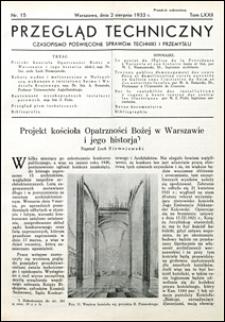 Przegląd Techniczny 1933 nr 15