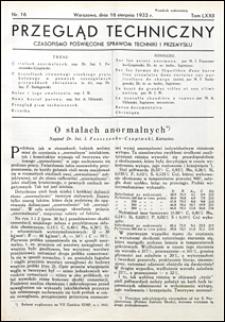 Przegląd Techniczny 1933 nr 16
