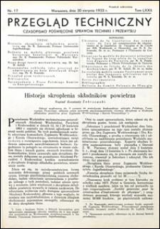 Przegląd Techniczny 1933 nr 17