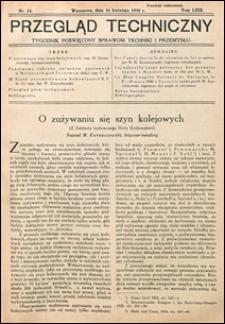 Przegląd Techniczny 1930 nr 15