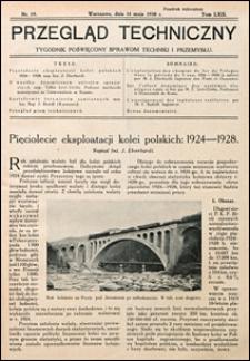 Przegląd Techniczny 1930 nr 19