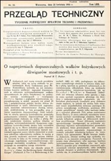 Przegląd Techniczny 1931 nr 16