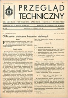 Przegląd Techniczny 1937 nr 12