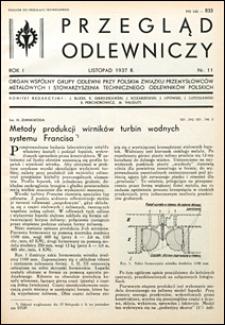 Przegląd Odlewniczy 1937 nr 11