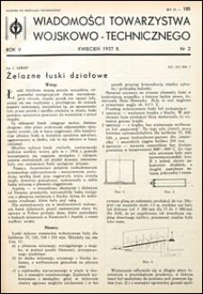 Wiadomości Towarzystwa Wojskowo-Technicznego 1937 nr 2
