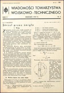 Wiadomości Towarzystwa Wojskowo-Technicznego 1937 nr 4
