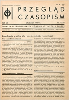 Przegląd Czasopism 1937 nr 12