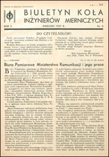 Biuletyn Koła Inżynierów Mierniczych 1937 nr 6