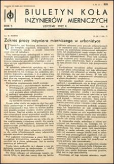 Biuletyn Koła Inżynierów Mierniczych 1937 nr 8