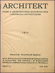 Architekt 1922 nr 2