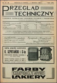 Przegląd Techniczny 1932 nr 35-36