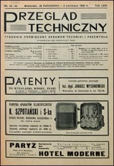 Przegląd Techniczny 1932 nr 43-44