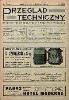 Przegląd Techniczny 1932 nr 45-46