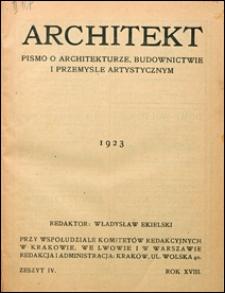 Architekt 1923 nr 4