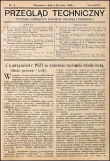 Przegląd Techniczny 1928 nr 1