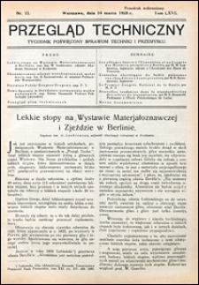 Przegląd Techniczny 1928 nr 11