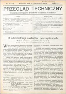 Przegląd Techniczny 1928 nr 34-35