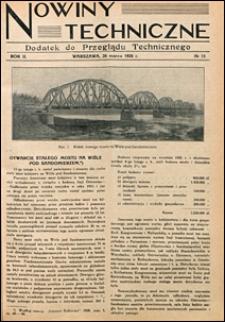 Nowiny Techniczne. Dodatek do Przeglądu Technicznego 1928 nr 13