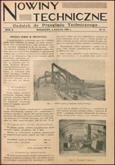 Nowiny Techniczne. Dodatek do Przeglądu Technicznego 1928 nr 14