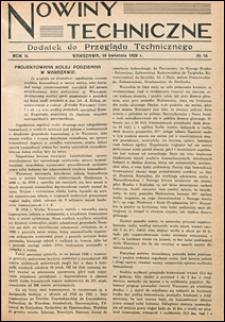 Nowiny Techniczne. Dodatek do Przeglądu Technicznego 1928 nr 16