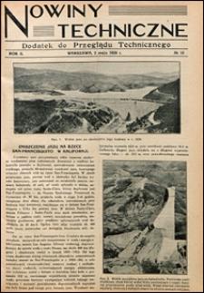 Nowiny Techniczne. Dodatek do Przeglądu Technicznego 1928 nr 18