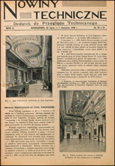 Nowiny Techniczne. Dodatek do Przeglądu Technicznego 1928 nr 30-31