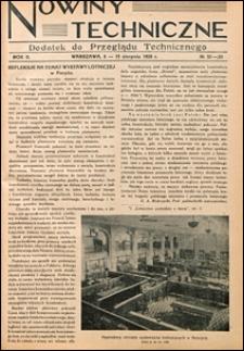 Nowiny Techniczne. Dodatek do Przeglądu Technicznego 1928 nr 32-33