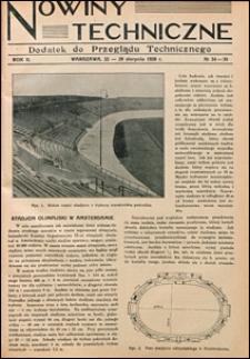 Nowiny Techniczne. Dodatek do Przeglądu Technicznego 1928 nr 34-35