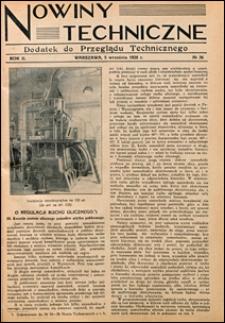 Nowiny Techniczne. Dodatek do Przeglądu Technicznego 1928 nr 36