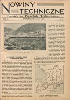 Nowiny Techniczne. Dodatek do Przeglądu Technicznego 1928 nr 38