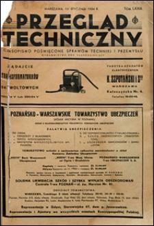 Przegląd Techniczny 1934 spis treści