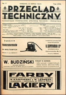 Przegląd Techniczny 1934 nr 17