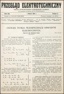 Przegląd Elektrotechniczny 1934 nr 5