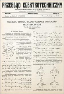 Przegląd Elektrotechniczny 1934 nr 7