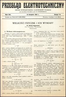 Przegląd Elektrotechniczny 1934 nr 16