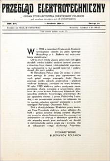 Przegląd Elektrotechniczny 1934 nr 23
