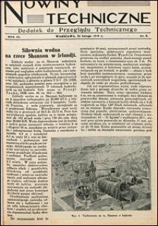 Nowiny Techniczne. Dodatek do Przeglądu Technicznego 1929 nr 8-10