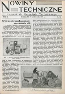 Nowiny Techniczne. Dodatek do Przeglądu Technicznego 1929 nr 44-47