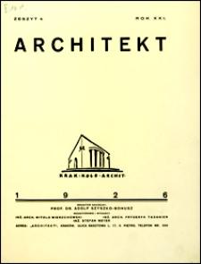 Architekt 1926 nr 4