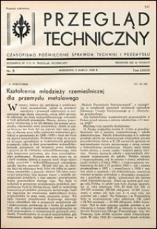 Przegląd Techniczny 1938 nr 5