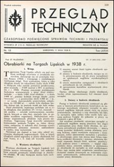 Przegląd Techniczny 1938 nr 10