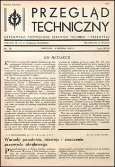 Przegląd Techniczny 1938 nr 18