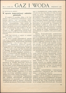 Gaz i Woda 1928 nr 9