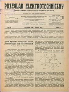 Przegląd Elektrotechniczny 1923 nr 1