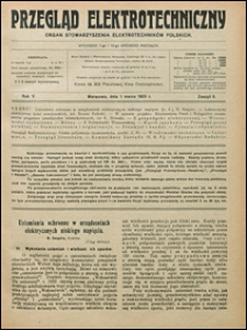 Przegląd Elektrotechniczny 1923 nr 5